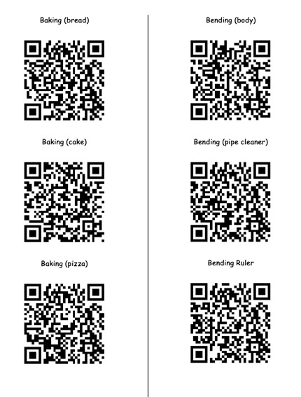 pic of tacting actions QR codes
